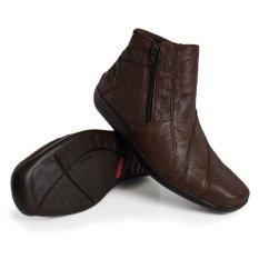 Gino Mariani Men's Shoes  Elario 1 Leather - Coklat tua
