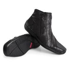 Gino Mariani Men's Shoes Elario 1 Leather- Hitam