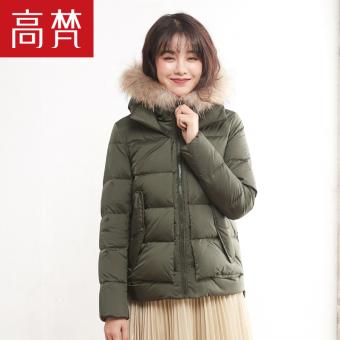 Harga Goldfarm Korea Fashion Style perempuan baru berkerudung jaket Slim  Bawah (Hijau gelap yang mendalam A) Murah 889dd111d9