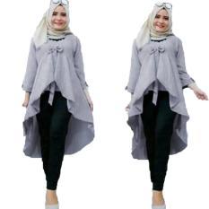 Grateful Fashion Tunik Nadya 3 - Abu