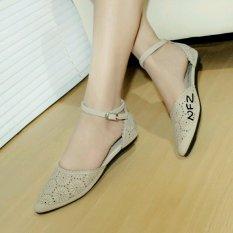 Gratica Sepatu Flat Flatshoes Laser Cream NFZ-21