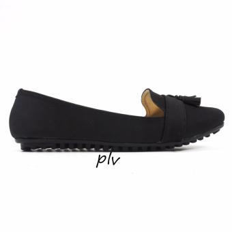 Gratica Sepatu Flat Shoes Tassel UD39 - Hitam - 2