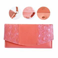 Great Dompet Wanita Panjang Dompet Cewek Limited Edition + Tali GPink - Pink / Merah Muda