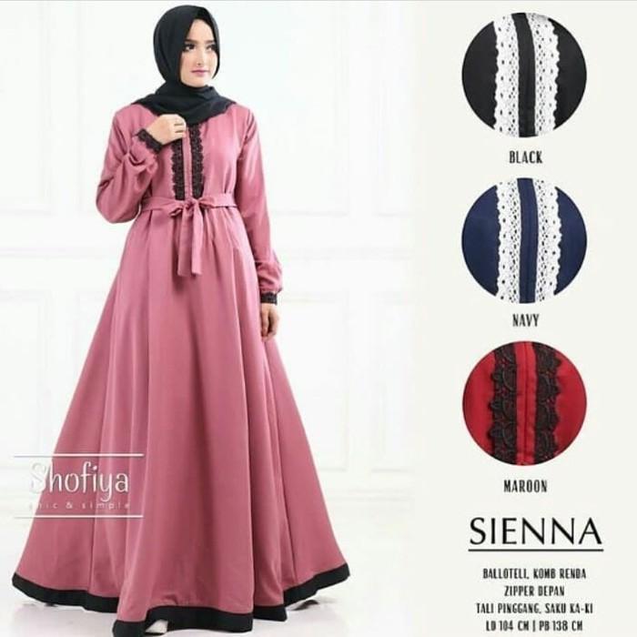 Grosir Baju Long Dress Muslim Wanita Hijab Murah Terbaru / Siena Dress - Cf2eki