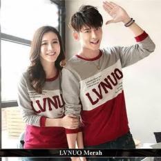grosir kemeja couple baju online lvnuo merah