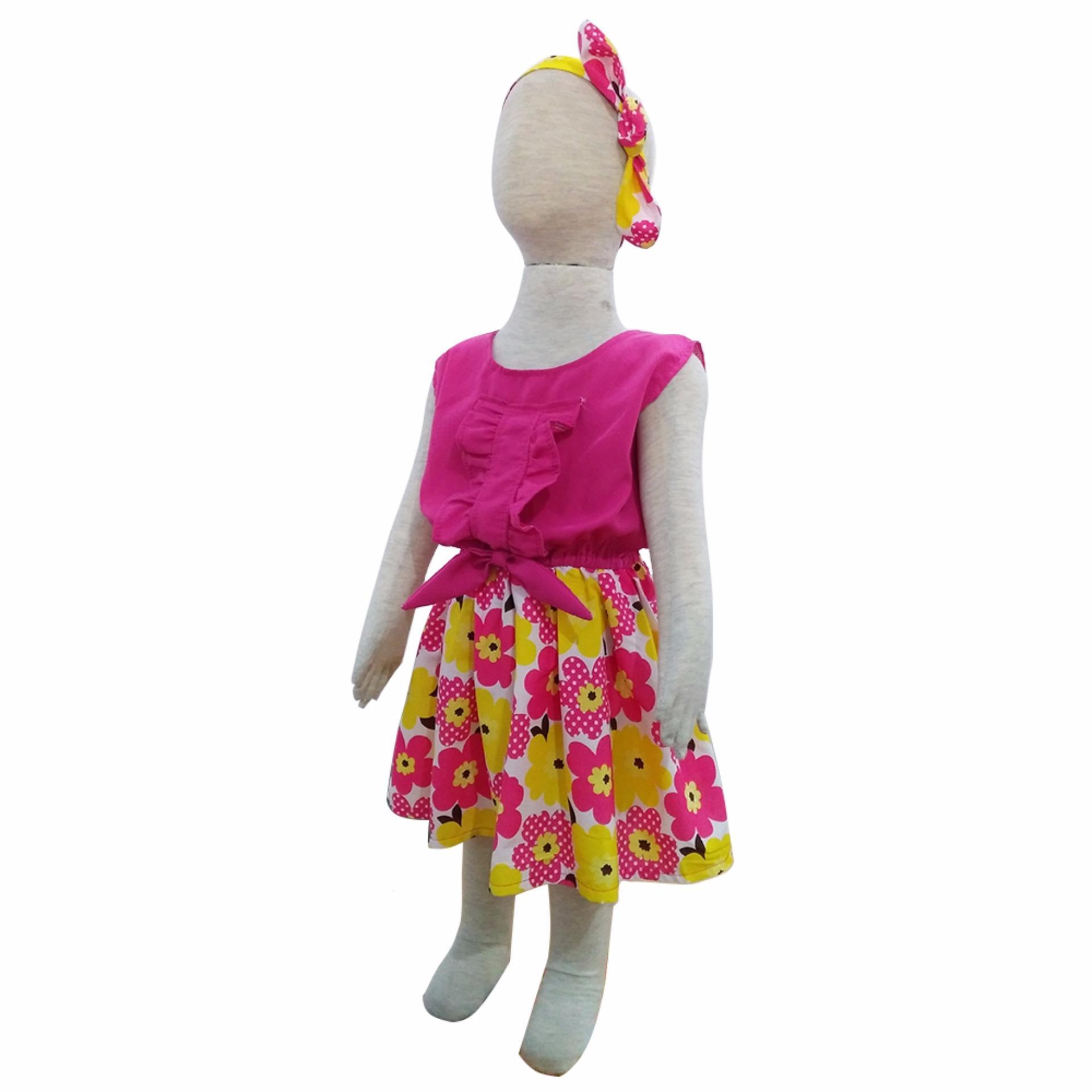 Grow Baju Gaun Harian Anak Perempuan Irish (Grow Gown Dress Clothes Irish Child ) PINK