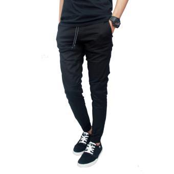 Gambar Gudang Fashion Celana Jogger Pria Panjang Hitam