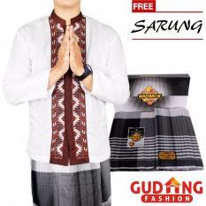 Gudang Fashion - Kemeja Muslimin Pria Baju Koko Lengan Panjang + Sarung