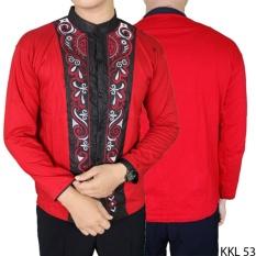 Gudang Fashion - Kemeja Terbaru Koko Panjang - Merah