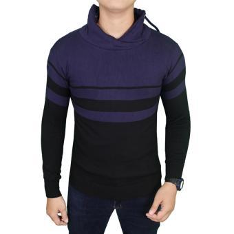 Gudang Fashion - Sweater Rajut Keren Pria - Hitam - Dongker
