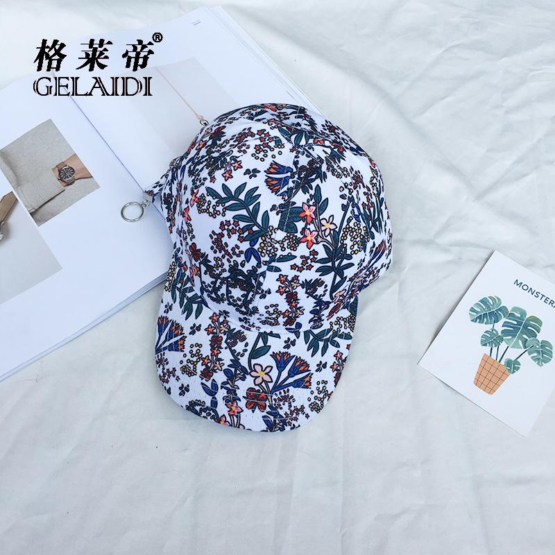 Harajuku Korea Fashion Style matahari musim panas perempuan topi baseball topi (Putih)