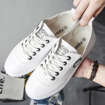 Harajuku Musim Gugur Baru Sepatu Wanita Sepatu Running Korea Fashion Style Olahraga Sepatu (Putih dan hitam)