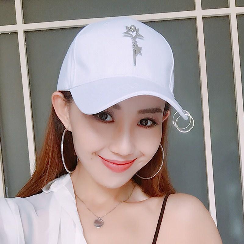 Flash Sale Hari kepribadian pasang patch yang laki-laki ms. topi Korea  Fashion Style bisbol topi (Lima menunjuk bintang menggantung batang besi  putih) 0f2efcbe78