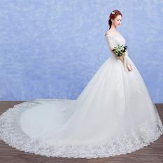 Hari Kerja Model Korea Baru Berekor Panjang Mempelai Wanita Gaun Pengantin  Gaun Pengantin Gaun (Berekor 78db18a5d6