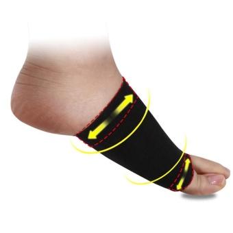 YingWei 1 pasang pereda nyeri perawatan kaki 3D Arch sponspemijatan sol sepatu hak tinggi bantalan hitam