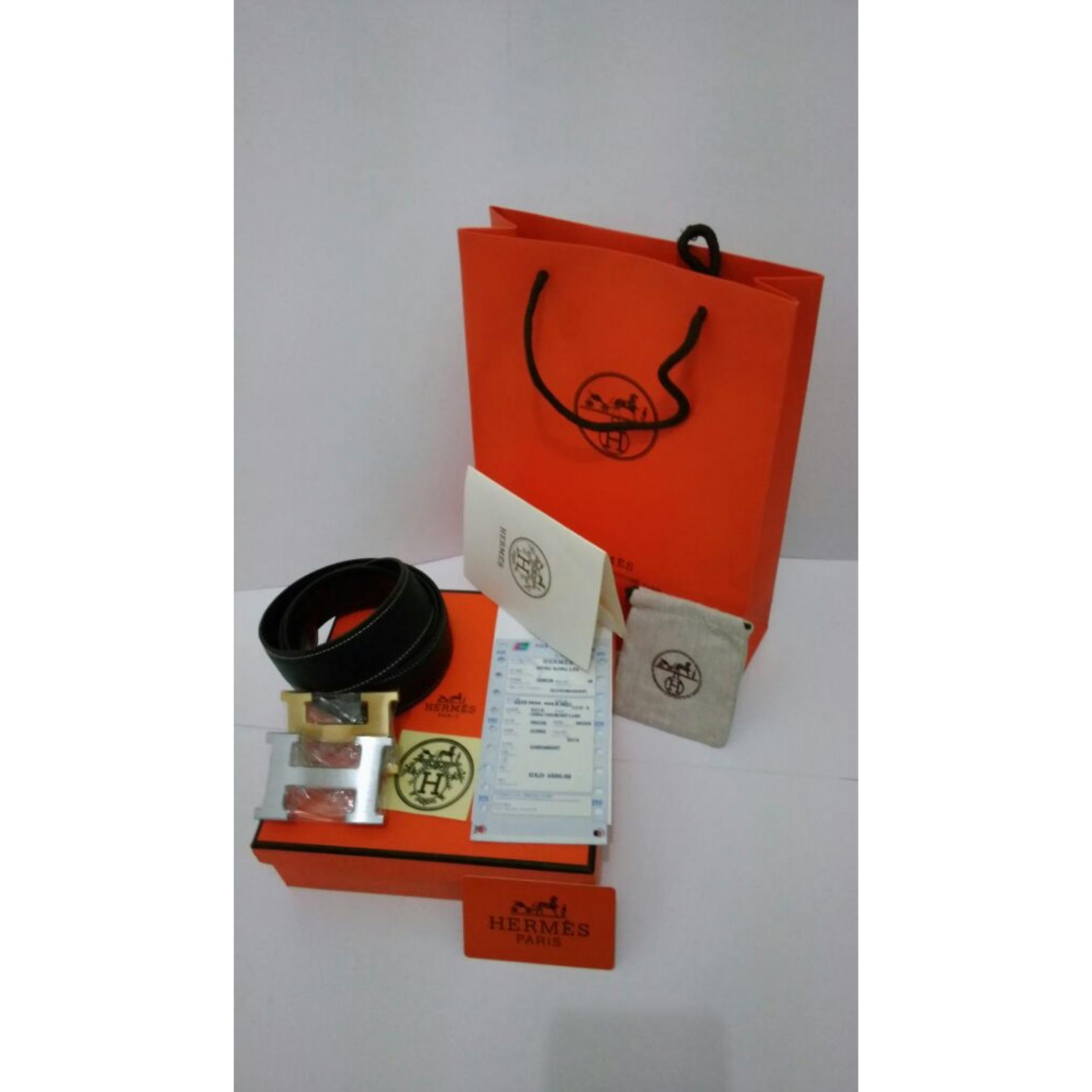 ... Hermess Ikat Pinggang Pria Sabuk Kulit Gesper Hermes Tali Pinggang Premium Ikat Pinggang Hermesimport Hitam Daftar