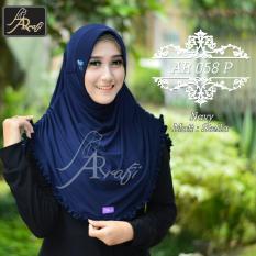 hijab instan Arrafi Rumana Rempel (Navy) jilbab kerudung bergo