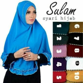 Hijab Instan / Jilbab Instan / Khimar Syari Sulam Rempel