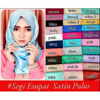 Hijab/Kerudung SATIN POLOS/SEGIEMPAT SATIN POLOS - 2