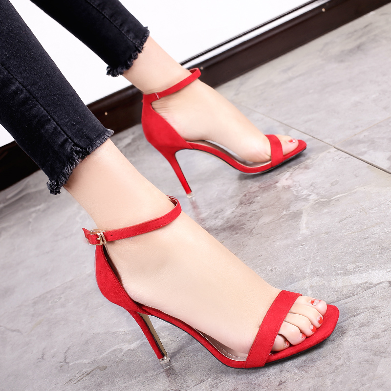 Cheap online Hitam seksi perempuan dengan baik dengan tumit sepatu wanita  Korea Fashion Style sandal ( 43a5250a9c