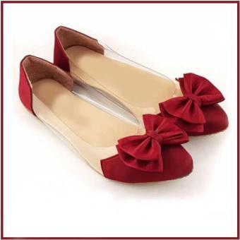 Hokimoro Flatshoes Wanita Marron Pita Marun