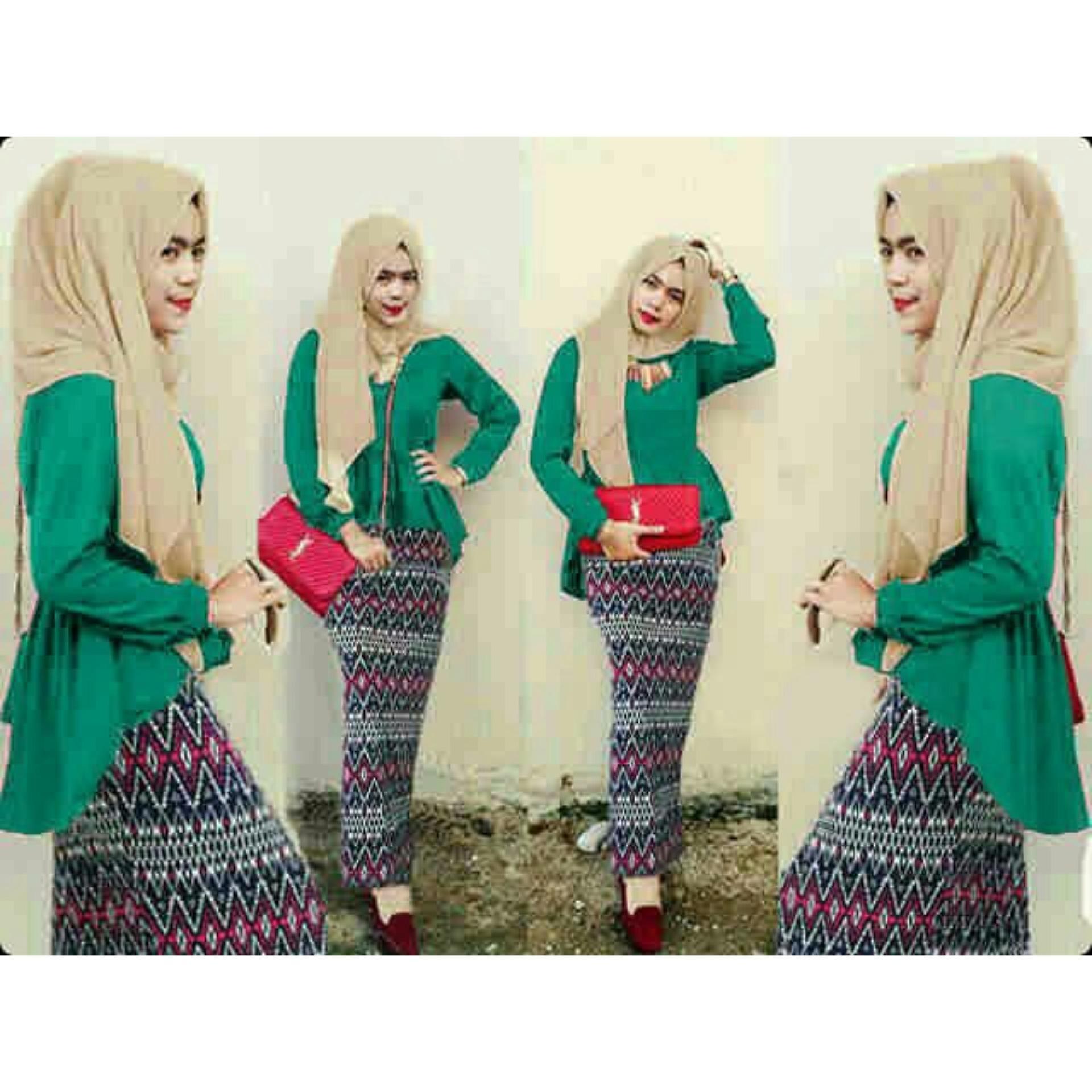 Cari Bandingkan Honeyclothing Stelan Muslim Tribin Hijau Harga Dress Flash Sale