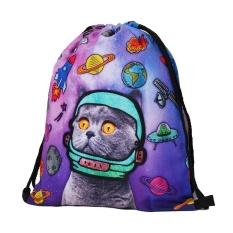 Hot Fashion Baju wanita wanita Bahu Folding Drawstring String Bag Backpack School Rucksack Gym Sport Handbag 15