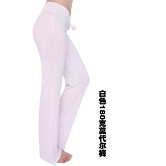 Hot Sales Moonar Women Yoga Pant Ladies Gym Fitness Dancing RunningPant Soft Trouser - Black - intl - 4