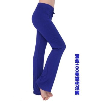 Hot Sales Moonar Women Yoga Pant Ladies Gym Fitness Dancing RunningPant Soft Trouser - Dark Blue - intl