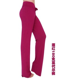 Hot Sales Moonar Women Yoga Pant Ladies Gym Fitness Dancing RunningPant Soft Trouser - Red Wine - intl
