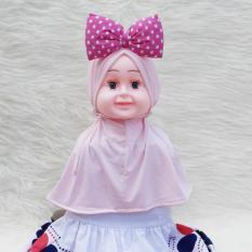 HQo Kerudung Anak Bayi Minnie Ribbon Syiria / Jilbab Anak Bayi / Jilbab Bayi / Hijab Pashmina Instan Anak