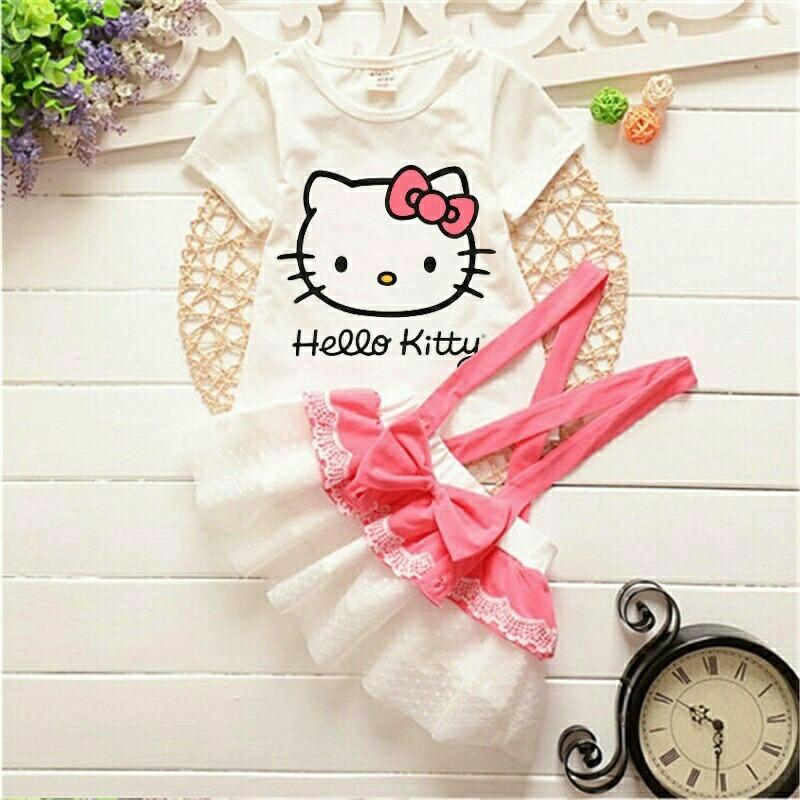 HSNFashion Dress Anak Perempuan Hollin - Pink // Dress Anak Perempuan // Dress anak Kitty // Dress Anak Murah