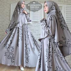 Humaira99 Gamis Syari Jumbo Muslim Wanita Busui Dress Muslimah Monalisa XXL