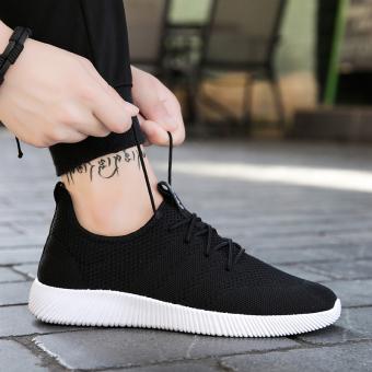 I hitam Gaya Korea dari anak laki-laki penuh pasang sepatu sepatu (Hitam dan putih)