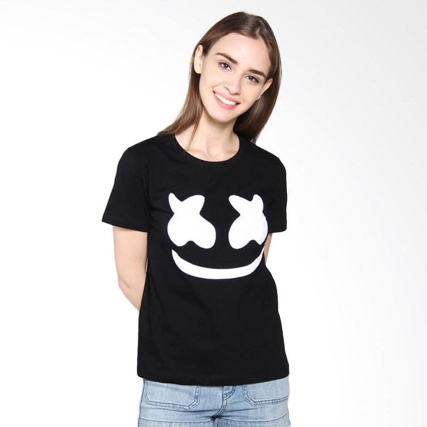 Iconic Design Tumblr Tee / T-shirt / Kaos Wanita Marshmello - Black .