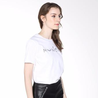 Review of Iconic Design Tumblr Tee / T-shirt / Kaos Wanita Munday - White