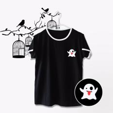 Iconic Design Tumblr Tee / T-shirt / Kaos Wanita Ringer Ghost - Black