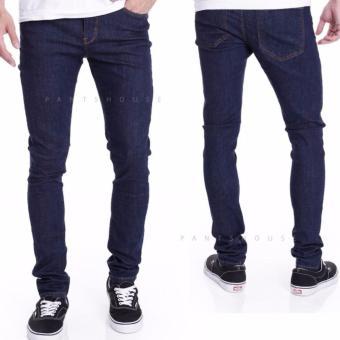 ID-Celana Jeans Denim Pria Original Stretch - NavyBlue