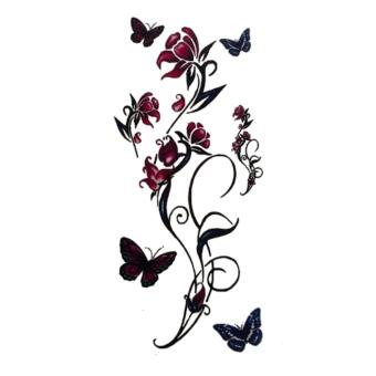 Harga flower butterfly tatto temporary stiker