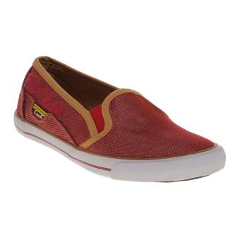 Carvil Wilky Ladies Shoes - Maroon-Gold