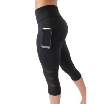 Kuhong Women Yoga Pants Running Tights Quick Dry Stretch Trousers Gym Dance Leggings Sport Capris -