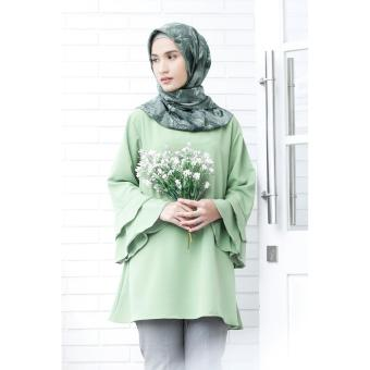 Harga Cotton Bee Apparel Beverly Slevee Blouse - Green Tea