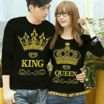 Harga Kaos Couple King & Queen ( Hitam ) gliter