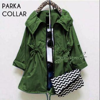 Harga DoubleC Fashion Jaket Parka Collar Army