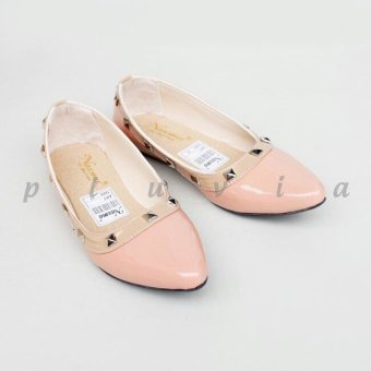 Harga Beauty Shop Flat Shop Studded - Peach