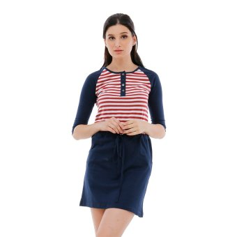 Harga Carvil Selena Dress - Navy