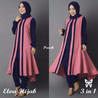 Harga Hasanah Collection Elva - Peach