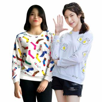 Harga Nazeer // Sweater Full Print Babyterry - Full of Sock