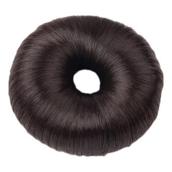 Cocotina Lady Girl's Hairpiece Hair Styling Tool Bun Maker Ring Donut Shaper – Dark Brown