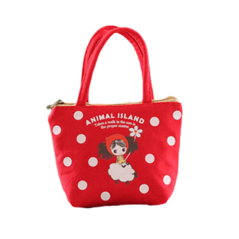 Harga Hequ Oprah Cute Girl Hand Carry Canvas Zero Wallet 04